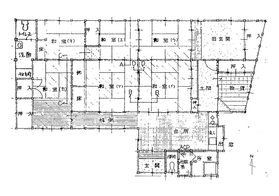 六番の家図面